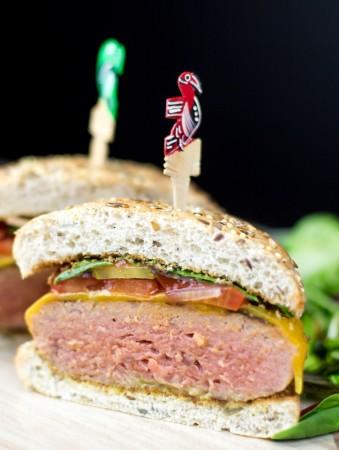 Cheddar cheese burger 1