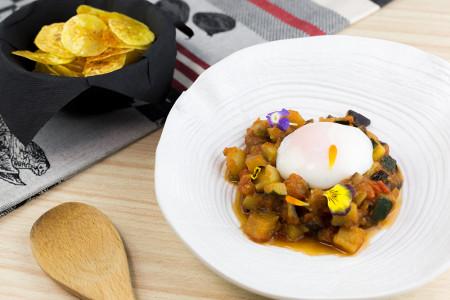 WEB_Pisto con huevo y plátano frito